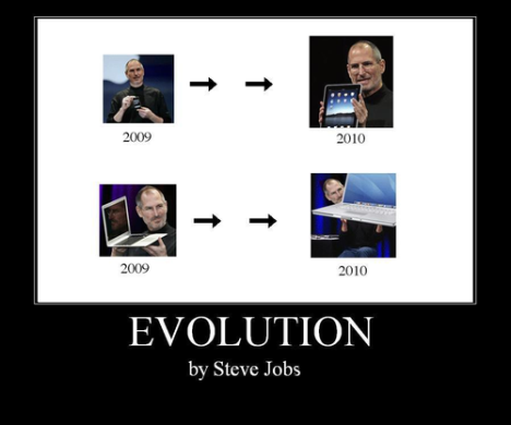 iPad - evolution by Steve Jobs