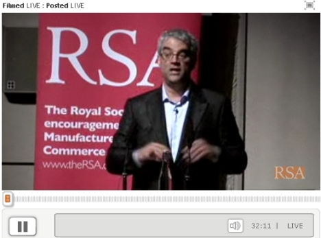 Nicholas Christakis speaks at the RSA on the power of social networks