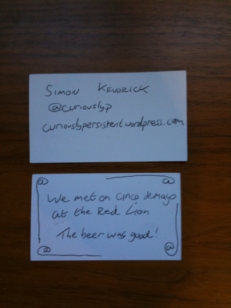 Simon Kendrick's business card